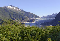 Mendenhall Glacier near Juneau, Alaska Royalty Free Stock Photos
