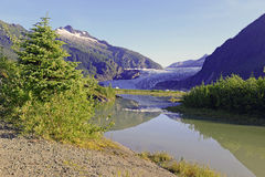 Mendenhall Glacier near Juneau, Alaska Royalty Free Stock Images