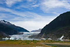 Mendenhall Glacier And Nugget Creek Falls Stock Images