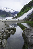 Mendenhall Glacier and Nugget Falls stock photos