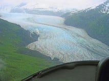 Mendenhall glaciär, Juneau, Alaska Arkivbilder