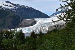Mendenhall Gletscher lizenzfreie stockfotos