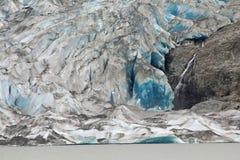 Mendenhall Gletscher, Alaska stockbilder