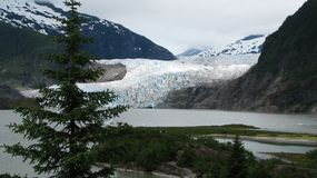 Mendenhall-Gletscher in Juneau Alaska lizenzfreies stockfoto