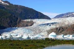 Mendenhall Gletscher am Sommer Stockfotografie