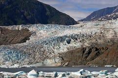 Mendenhall Gletscher am Sommer Lizenzfreies Stockbild