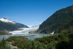Mendenhall lodowiec w Juneau Alaska Obraz Stock
