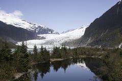 Mendenhallgletsjer Alaska horizontale 2007 royalty-vrije stock foto