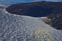 Mendenhallgletsjer bevroren landschap 3 Stock Afbeeldingen