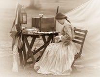 Mender ткани гражданской войны стоковая фотография rf