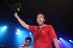 Mendetz (musikband) perfoms på den BeCool etappen Arkivfoton