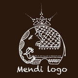 Mendi di logo dell'elefante Fotografia Stock Libera da Diritti