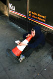 Mendiant à Londres Photo libre de droits