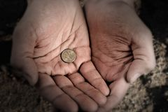 Mendiant Image libre de droits