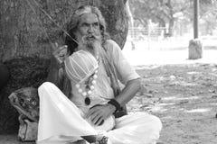 Mendiant indien Photos stock