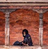 Mendiant Nepal Photo libre de droits