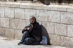 Mendiante de femme Photographie stock libre de droits