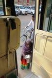 Mendiante indienne de femme Photo stock
