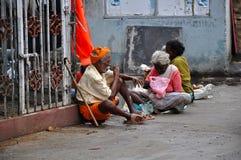 Mendiants en Inde Images stock