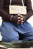 Mendicant begging for help Stock Photos