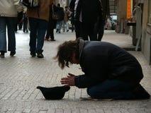 Mendicante Fotografie Stock