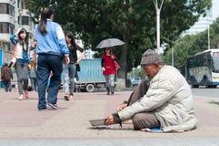 Mendicante Fotografia Stock Libera da Diritti