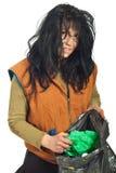 Mendicante che cerca immondizia Fotografia Stock
