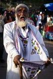 Mendicante cieco in India Immagini Stock Libere da Diritti
