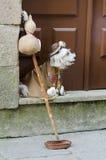 Mendicante del cane Fotografie Stock
