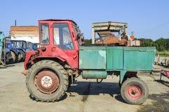 Mendicante del trattore trattore con l'ente anteriore Immagine Stock Libera da Diritti