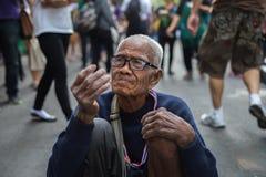 Mendicante dell'uomo anziano Fotografie Stock