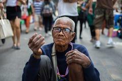 Mendicante dell'uomo anziano Immagine Stock