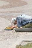 Mendicante della via Fotografie Stock