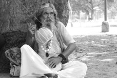 Mendicante indiano Fotografie Stock