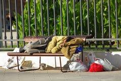 Mendigo borracho fotografía de archivo libre de regalías