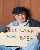 Mendigo borracho imagen de archivo