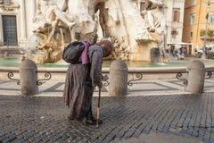 Mendigo da rua Imagens de Stock