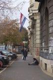 Mendigo en la calle Imagen de archivo libre de regalías
