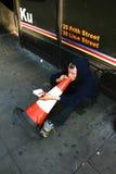 Mendigo en Londres Foto de archivo libre de regalías