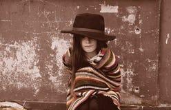 Mendigo Girl Foto de archivo libre de regalías