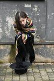 Mendigo Girl Fotos de archivo