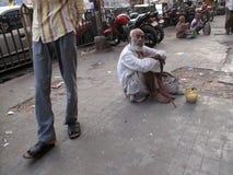 Mendigos de Calcutta Imagenes de archivo