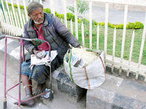 Mendigos en la India Imagenes de archivo