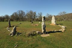 Mendiluze Cromlech Royalty Free Stock Images