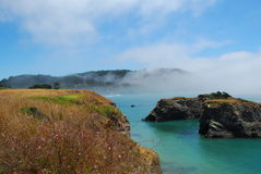 Mendocino, California. Pacific coast mist, Mendocino, California stock photos