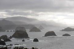 Mendocino Coast, California. Pacific Coast view along Mendocino County, California Stock Images