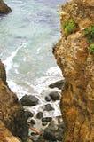 Mendocino coast vista. North california mendocino coastal cliff Royalty Free Stock Images