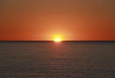 Mendocino kustsolnedgång arkivfoto