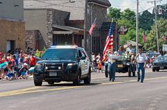 Police and Veterans Lead Mendota Days Parade Stock Images