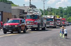 Emergency Vehicles at Mendota Days Parade Stock Photo